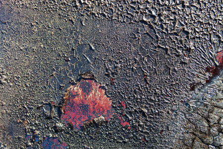 vanished: Vanished surface with the vanish cracked and charred after the fire Stock Photo