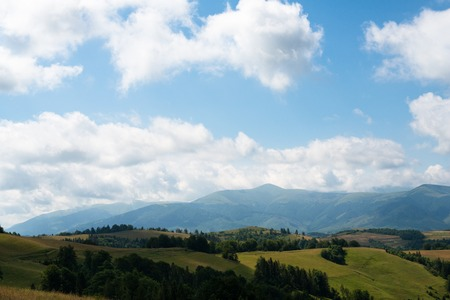 Summer landscape in the Ukrainian Carpathian Mountains. Stock Photo