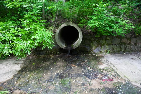 tuberias de agua: La tuber�a de agua circular concreto escorrent�a de descarga