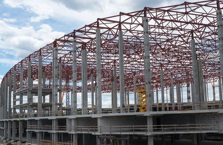 framework: Construction site. Framework of the new building.