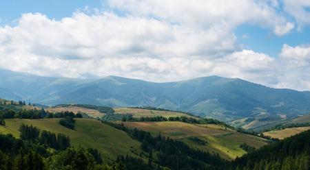 Summer landscape in the Ukrainian Carpathian Mountains.