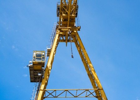 gantry: Gantry crane against the blue sky background
