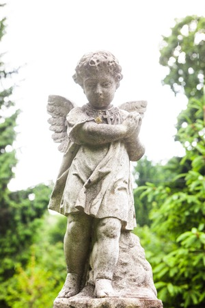 angel cemetery: Old cemetery marble sculpture of the angel.