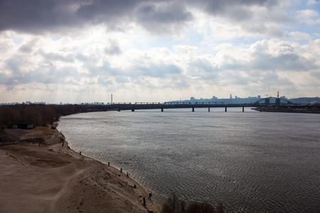 dnieper: The Dnieper river in Kyiv (Ukraine) in early spring.