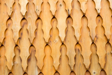 Wooden shingle surface for background or texture. Stock Photo