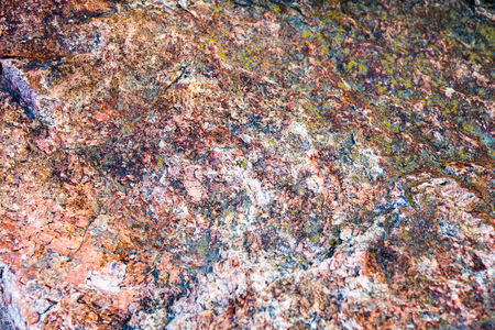 intrusive: Granite surface with rich and various texture.