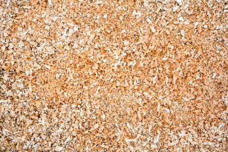 swarf: Pile of wood sawdust for background or texture
