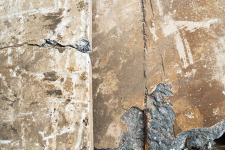 spoilage: Heap of the damaged concrete blocks. Close up. Stock Photo