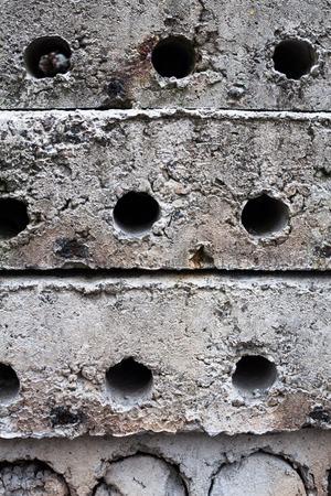 orifice: Stack of concrete blocks on the construction site. Stock Photo