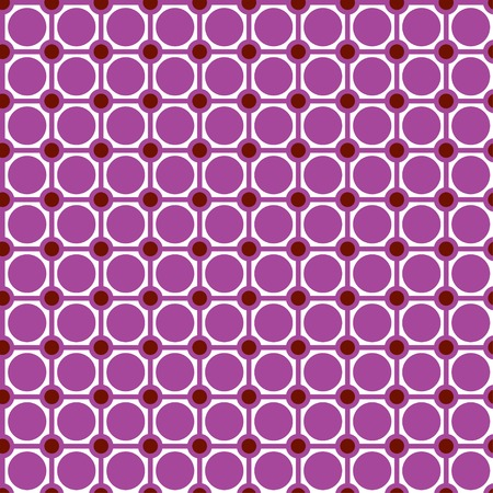 Checkered pattern with circles. Seamless abstract geometrical pattern. Vector illustration. Illustration