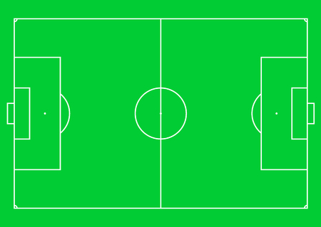 Football pitch (football field or soccer field). Vector illustration.