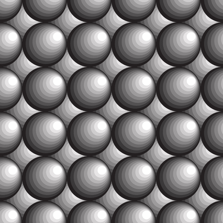 Black, gray and white circles. Seamless abstract geometrical pattern. Vector illustration.