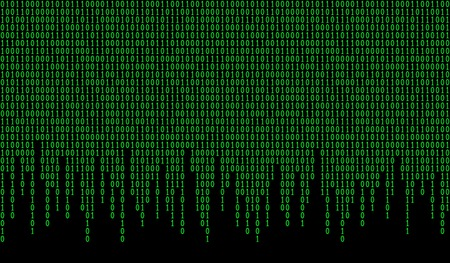 Binary code seamless pattern. Computer background with 1 and numbers. Data and technology. Vector illustration.