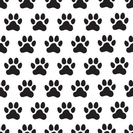 Huellas de pata de patrones sin fisuras. Patas de animales (perros). Ilustración vectorial. Ilustración de vector
