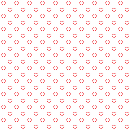 Seamless pattern with hearts. Red and white colors. Vector illustration.