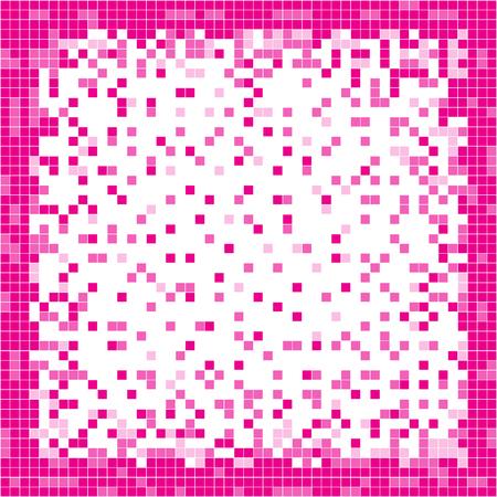 Pink abstract pixel background. Pixel art. Vector illustration. Ilustração