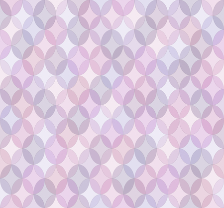 Seamless light purple abstract geometrical pattern with ovals. Tender background. Vector illustration.