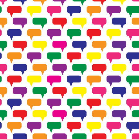 Speech bubbles seamless pattern. Message boxes. Symbolic discussion. Vector illustration.