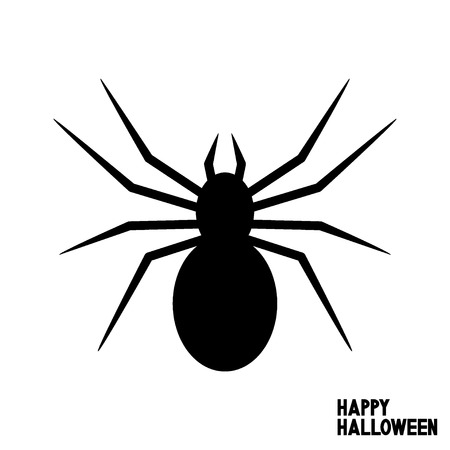 Happy Halloween card with spider. I love Halloween. Vector illustration.
