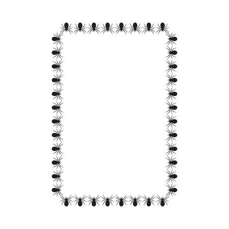 Spiders frame. Frame for your Halloween portrait. Vector illustration.