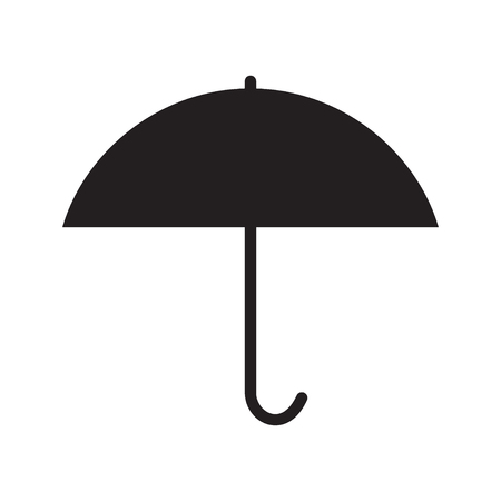 Umbrella. Icon. Black and white vector illustration.