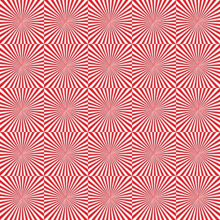 Red and white rays. Seamless abstract geometrical pattern. Vector illustration.