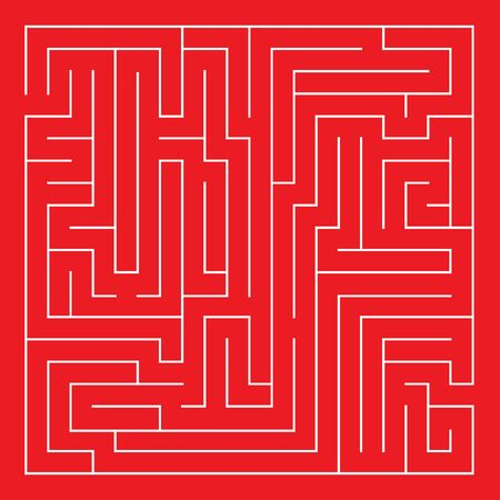 Labyrinth. Maze. Entrance and exit. Find the way. Vector illustration.
