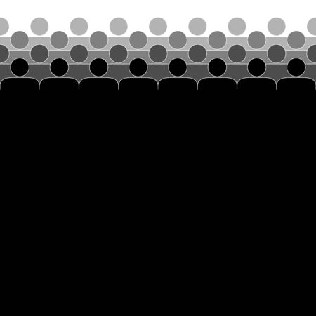 Crowd. People standing in a crowd. Human silhouettes. Black and white. Vector illustration.
