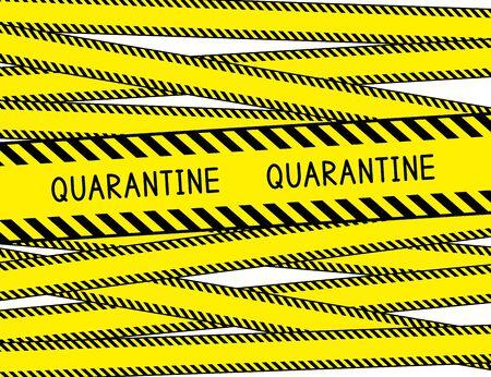 Quarantine. Restricted area. Quarantine zone. Warning stripes. Vector illustration. Vektoros illusztráció