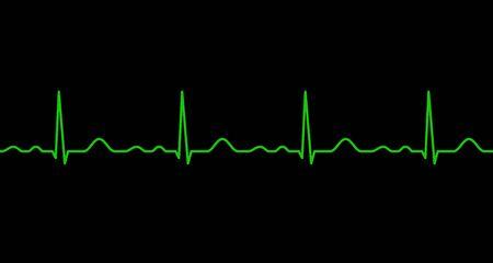 Ekg line. Heartbeat. Electrocardiography. Seamless line. Healthy heart. Medical design. Vector illustration. Vector Illustration