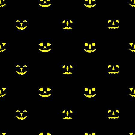 Jack-o-lanterns seamless pattern. Happy Halloween background. Vector illustration.
