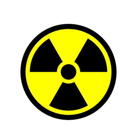 Radioactivity sign. Ionizing radiation trefoil symbol. Vector illustration. Vector Illustration