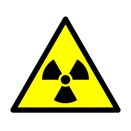Radioactivity sign. Ionizing radiation trefoil symbol. Vector illustration.