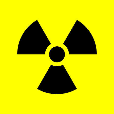 Radioactivity sign. Ionizing radiation trefoil symbol. Vector illustration. Illustration