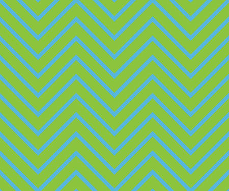 Zigzag seamless abstract geometrical green and blue pattern. Vector illustration.