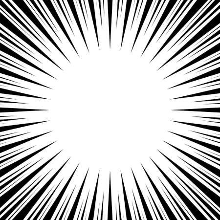 Radial speed lines. Explosion. Black lines burst. Abstract background. Vector illustration. Ilustrace