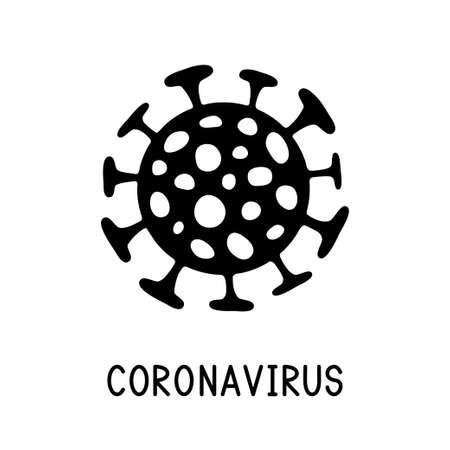 Coronavirus bacteria. Dangerous coronavirus cell. Covid-19 sign. Dangerous coronavirus cell. Vector illustration.