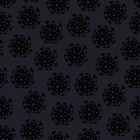 virus bacteria. Seamless pattern. Dangerous virus cell. Vector illustration.