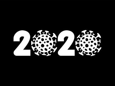 2020. Year of  virus disease. Illustration
