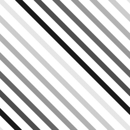 Striped diagonal abstract seamless geometrical black and white pattern. Diagonal lines. Vector illustration. Ilustrace