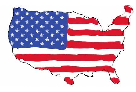 Map Of USA With State Flags Stock Photo Picture And Royalty Free - How to free hand a map of the us