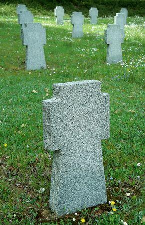 belong: empty stone tombstones, they belong to german soldiers fallen in slovakia