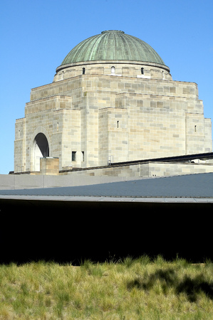 canberra: detail photo of australian war memorial in Canberra