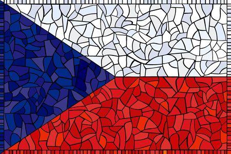 Czech republic national flag created as window-pane; original size ratio -  2:3 Stock Vector - 1799903