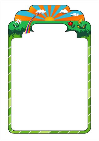 empty nature theme frame, can be used as a diploma, certificate, etc. Vector