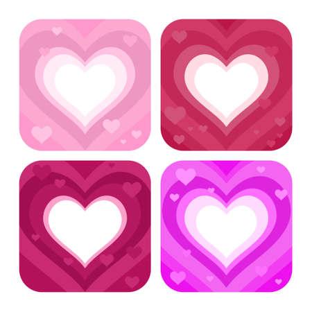 enclosing: quattro si sentono nei colori differenti - colore rosa e la porpora