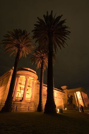 Art Gallery of New South Wales in Sydney, night photo photo