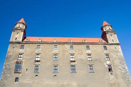 slovak: bratislava castle detail photo, the castle is situated in the centre of slovak capital city, bratislava