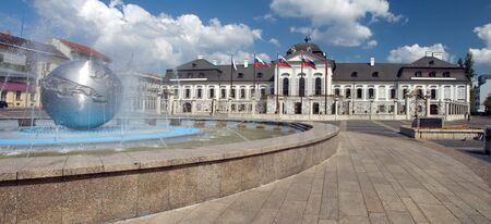 presidential castle in Bratislava, nice day with some clouds
