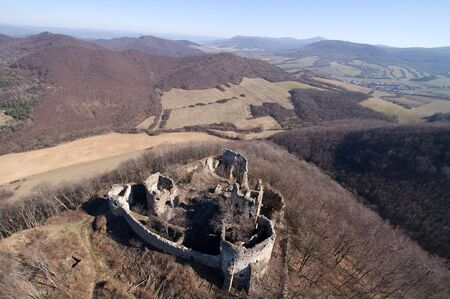 old castle ruins, jasenov castle in east Slovakia photo